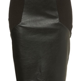 TOPSHOP/TOPMAN - PU Pencil Rib Side Skirt