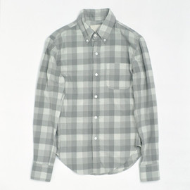 Band of Outsiders - Brushed cotton B.D. shirts grey check