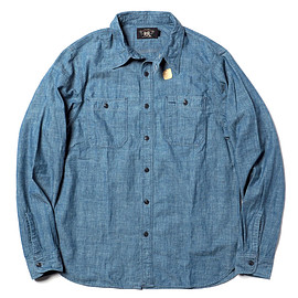 RRL - COTTON CHAMBRAY WORKSHIRT - RINSE WASH