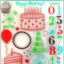Martha Stewart - Clear Stamp Set Happy Birthday