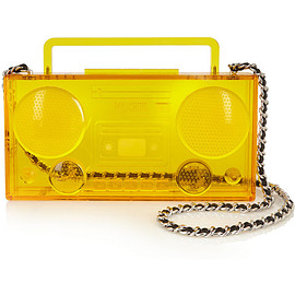 MOSCHINO - FW2015 Boom Box Perspex shoulder bag