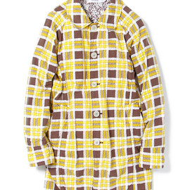 nonnative - ROVER COAT - COTTON FLANNEL TATTERSALL CHECK