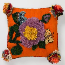 Anthropologie - Tufted Flower Pillow