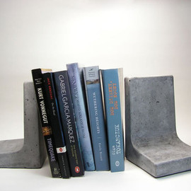 roughfusion - Modern Concrete Bookends