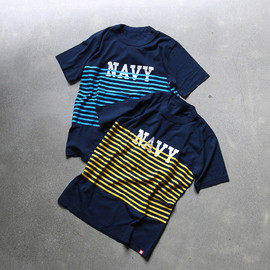 MINOTAUR - MBS NAVY BORDER T-SHIRTS