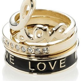 Love stack rings