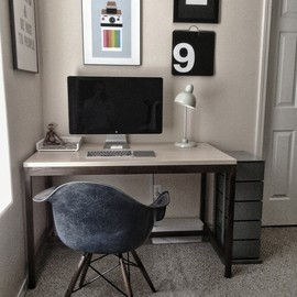 Greg's minimal desk submission.  I think the chair is awesome too!