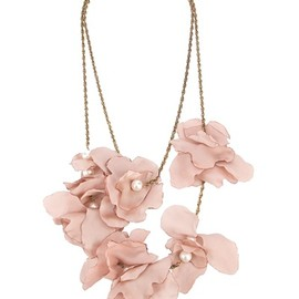 LANVIN - silk flower necklace