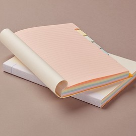 Choosing Keeping - Multicolour Block A5 Notebook, ruled with index tabs