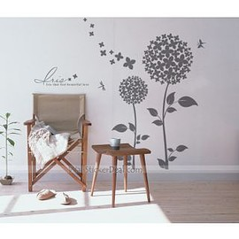 wallstickerdeal.com - Lris Beautiful Dandelion Flowers Wall Sticker