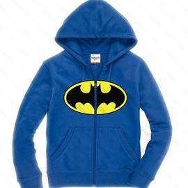 alanatt - Blue Batman Logo Hoodie For Men