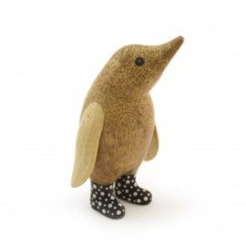 dcuk - Natural Welly Baby Penguin - Black and White Spots