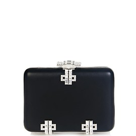 Alexander McQueen - Deco crystal and leather box clutch