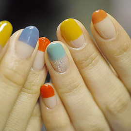 COMMON - [Colorful]straight french nail