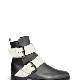 PIERRE HARDY - COLOURBLOCK DOUBLE BUCKLE ANKLE BOOTS