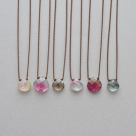 Margaret Solow - Small Mixed Color Tourmaline Necklace