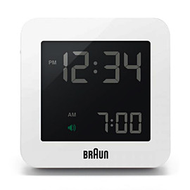 BRAUN - Global Radio Controlled Digital Alarm Clock BNC009 / White