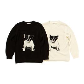 beautiful people - french bulldog intersia pullover