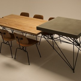 HG CONCRETE + WOOD + STEEL TABLE