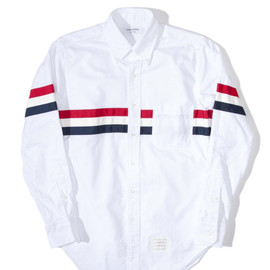 THOM BROWNE - Three Stripe Oxford Shirt