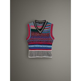BURBERRY - Hand-embroidered Wool Cashmere Blend Tank Top(2017 September)