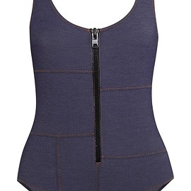 Lisa Marie Fernandez - Jasmine stretch-denim swimsuit