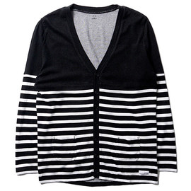 """BEDWIN & THE HEARTBREAKERS - """"Timmins"""" Plating Border Cardigan"""