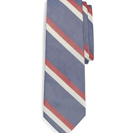 BLACK FLEECE BY Brooks Brothers - MUTED STRIPE TIE Navy-White-Red