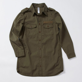 MHL. - LIGHT CANVAS MILITARY LONG SHIRT