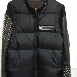 UNDERCOVER - Leather Sleeve Down jacket