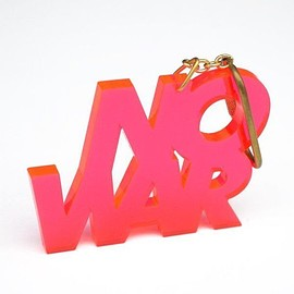北山雅和 - NO WAR_key holder (PINK)