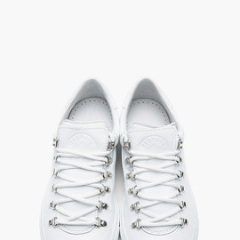 DIEMME - White Leather Marostica Low-Top Sneakers
