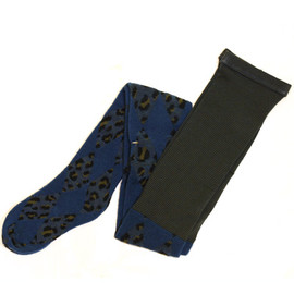 ayame - Leopard Tights - blue