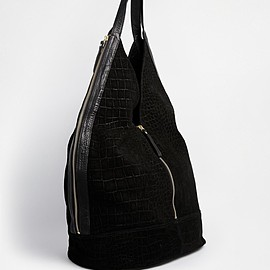 ASOS - ASOS Leather And Suede Slouch Hobo Bag With Zip