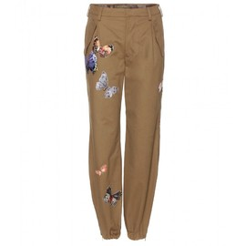 VALENTINO - Embroidered cotton trousers