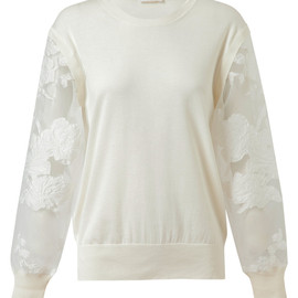 Chloé - Cotton Knit with Mesh Sleeves