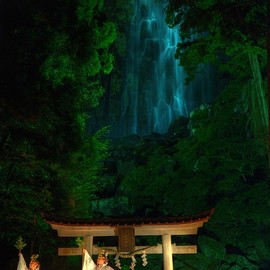 和歌山県那智 - Gagaku theater at Nachi Shrine, Wakayama, Japan