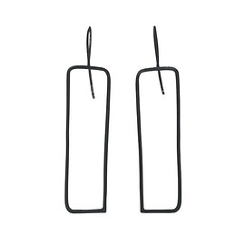Kaoru Rogers - SEN/LINE Rectangle Earrings - Oxidised