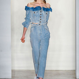JEREMY SCOTT - denim jacket and pants