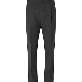 Lanvin - Tapered Pleated Virgin Wool Trousers