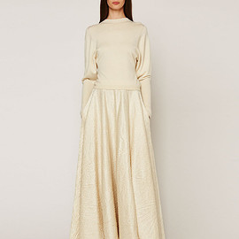 THE ROW - THE ROW Lea Textured A-Line Maxi Skirt