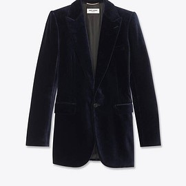 Saint Laurent - single-breasted jacket in velvet
