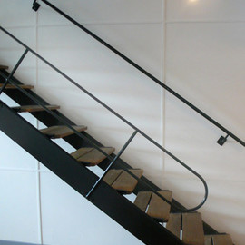 Le Corbusier - Stairs at Cite Radieuse, Marseille
