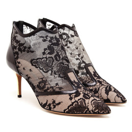 NICHOLAS KIRKWOOD - Floral Lace and Leather Shoe Boots