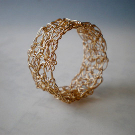 Luulla - Crochet gold filled ring