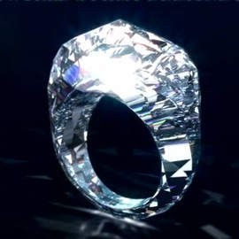 Shawish - The World's First Diamond Ring Carved Entirely From Diamond