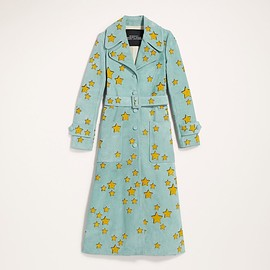 Marc Jacobs - Suede Trench Coat With Star Applique