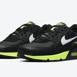 NIKE - Air Max 90 - Black/White/Hot Lime