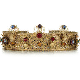 DOLCE&GABBANA - Gold-plated Swarovski crystal crown
