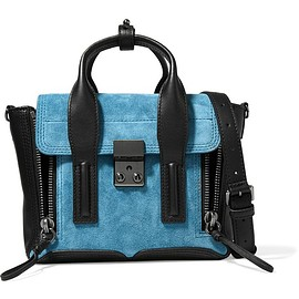 3.1 Phillip Lim - The Pashli mini suede and leather trapeze bag